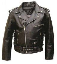 Men's AL2011 Basic Motorcycle Jacket 50 Black - $135.54