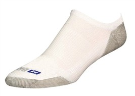 Drymax Running No Show Socks - XL - White - D07434 - $11.25