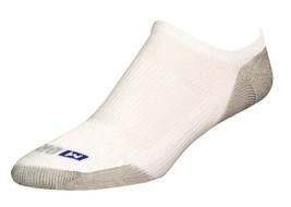 Drymax Running No Show Socks- Large - White - D07433 - $11.25