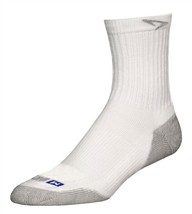 Drymax Running Crew Socks- Large - White - Made in the USA - D07933 - $12.50