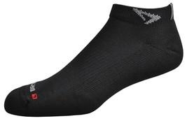 Drymax Run Mini Crew Socks - Large - Black - D08323 - $11.75