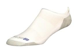 Drymax Running Lite-Mesh No Show Tab Socks- Large - White - D10233 - $11.00