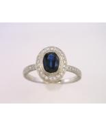 Platinum Sapphire and Diamond Ring - $1,900.00