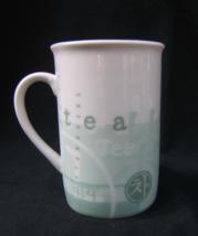 Starbucks Ceramic Green & White Lidded Tea Mug 10 oz - $17.95