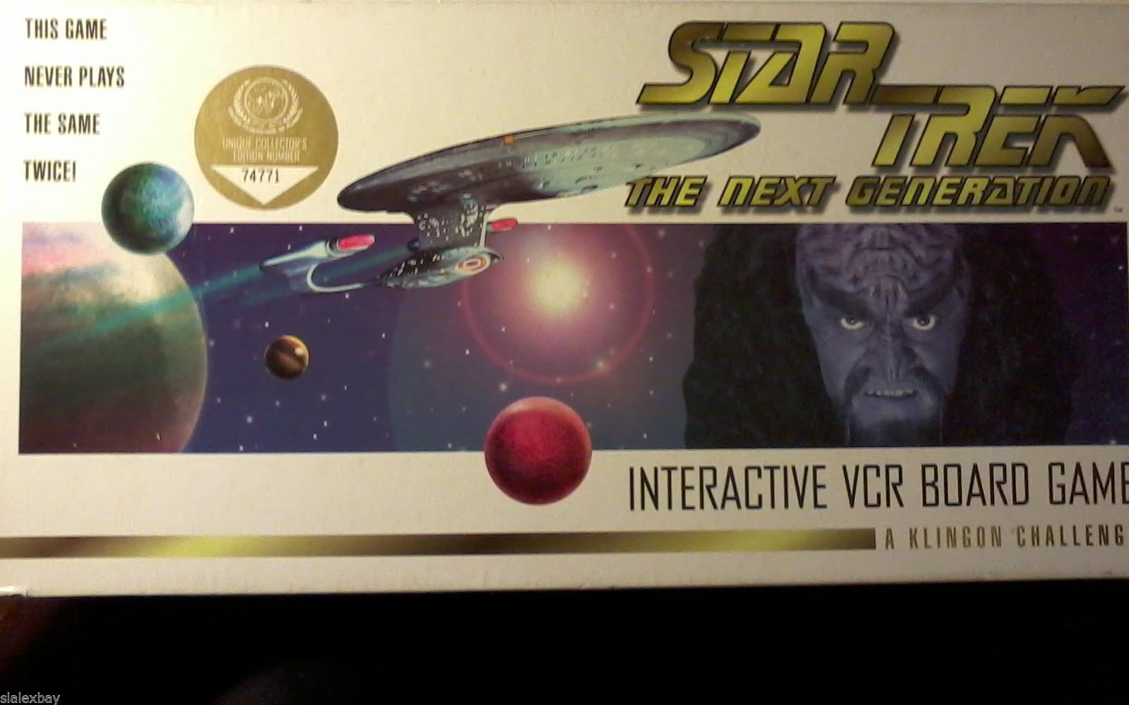 Star Trek The Next Generation VCR Board Game Klingon Challenge Collector's Editi