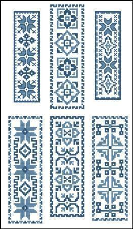 Victorian blue bookmarks 1 2227