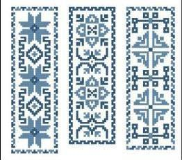 Victorian Blue Bookmarks I Collection cross stitch chart PinoyStitch