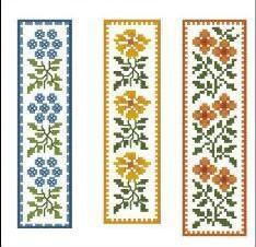 Floral Bookmarks Collection cross stitch chart PinoyStitch
