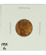 1939 United States Lincoln Wheat Penny Rating (G) Good - $0.05