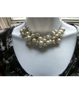 Bridal Pearl Clusters Necklace + Earrings set - $38.00