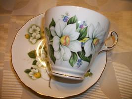 Beautifuly mismatched Regency Bone China Tea Cup Saucer apple blossom fl... - $16.99