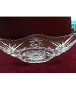 Vintage Crystal  Boat Bowl Early American Prescut Crystal EAPC  Relish D... - $12.99