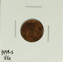 1939-S United States Lincoln Wheat Penny Rating (VG) Very Good - $0.10