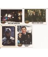 1989 Batman Card Lot #15 Cards #8,23,61 & Puzzle Sticker #3 Gordon Joker... - $2.95