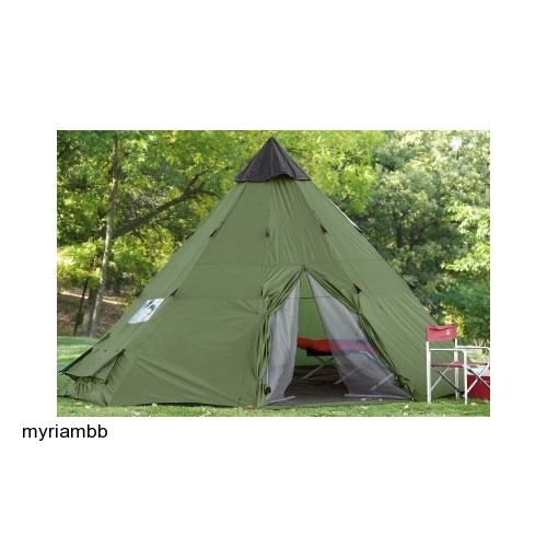 Big Teepee Tent 18 X 18 Green Tipi Indian Camping