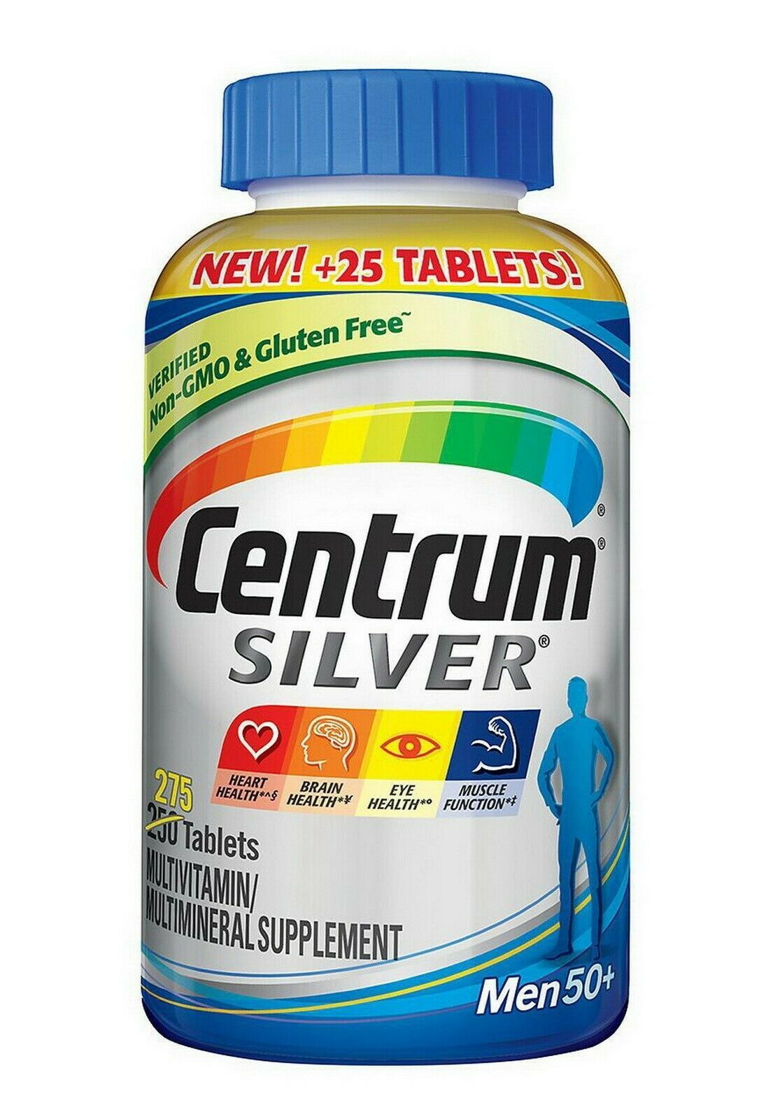 Primary image for 275 Tabs Centrum Silver Men 50+ Multivitamin Multimineral Supplement Vitamin D3.