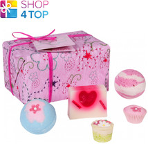 Pretty In Pink Gift Pack Bomb Cosmetics Strawberries Chamomile Handmade Natural - $18.80