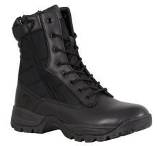 """Men's Motorcycle  9""""Leather Lace front Tactical boot w/zipper(mbm9110) - $79.99"""