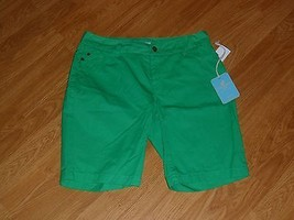 Caribb EAN Joe Bermuda Shorts SIZE10P Green MSRP:$46.00 Nwt - $17.09