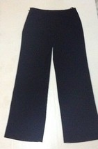 Calvin Klein Black Women's Dress Slacks Sz 6 Black Side Zipper - $9.99