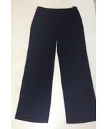 Calvin Klein Black Women's Dress Slacks Sz 6 Black Side Zipper - $9.99
