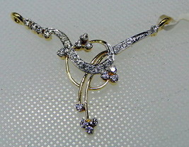 Indian Mangalsutra Look 1.00Ct Real Diamond Solid 14K Gold Wedding Gift ... - $1,134.54