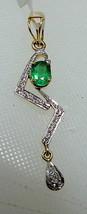 1/2Ct Real Diamond Solid 14K Gold Hallmark Wedding Party Gift Emerald Pe... - $986.04