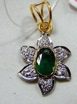 1/2Ct Genuine Diamond Solid 14K Gold Hallmark Wedding Party Gift Emerald... - $986.04