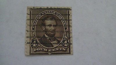 Primary image for Dark Brown Vintage USA Used 4 Cent Stamp Cancelled