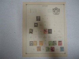 Antique Hungary Postage Stamps 1888-1900 Lot of 11 On Page - Make an Offer - $15.59