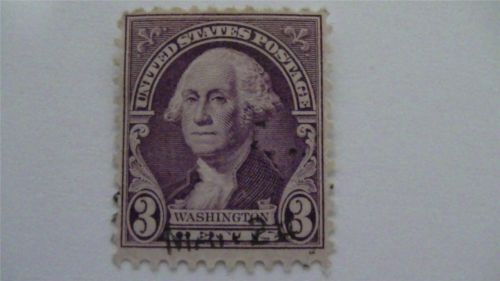 Washington Purple USA Used 3 Cent Stamp
