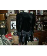 ESTHER BARCELONA Sharp Velvet Black Dress Size 14 - $19.80