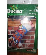 "Bucilla, ""Over The Rooftops"" felt stocking kit, Stanta Reindeer - $39.99"