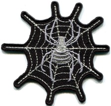 Spider web spiderweb retro boho tattoo sew sewing applique iron-on patch S-823 - $2.95