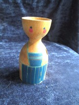 """Child's darling wooden egg cup, 4"""" high, from G... - $9.89"""