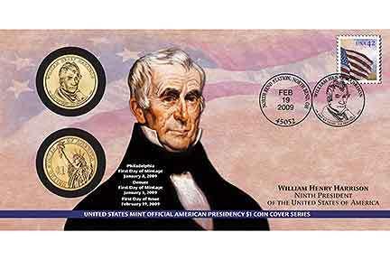 2009 - William Harrison - First Day Coin Cover - P29 Bonanza