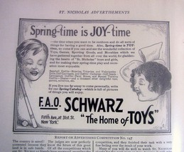 1914 advertisement Schwarz Home of Toys - $7.80