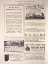 1914 advertisement Schools & Camps Minne-Wawa National Park Girls Semina... - $7.80