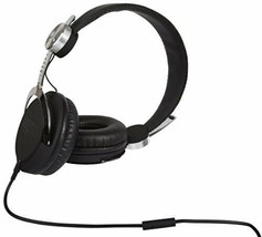 New WeSC Bass DJ Unisex Headphones with Microphone - Black/Silver One Size NIB