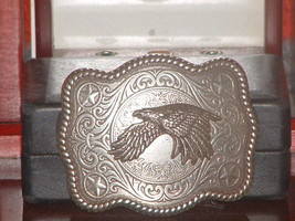 Pre-owned Silver Tone Heavy Eagle Belt Buckle  - $11.00