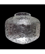 Clear Crackle Glass 3 1/4 in Lamp Shade Light G... - $14.95