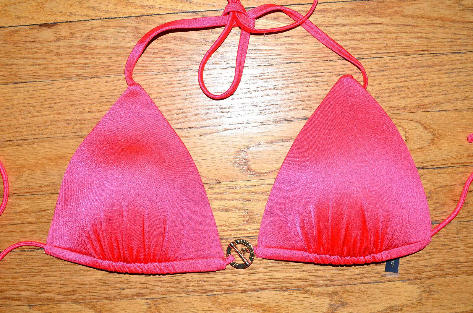VICTORIAS SECRET Bandeau Bikini Top Floral Coral 32B