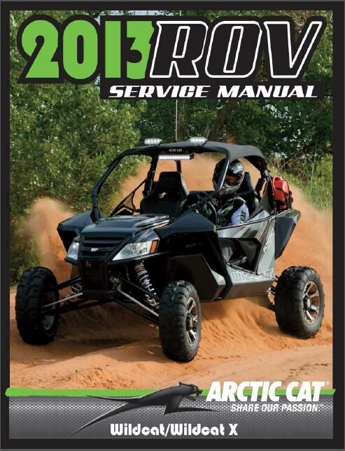 2013 arctic cat wildcat x service manual ebook