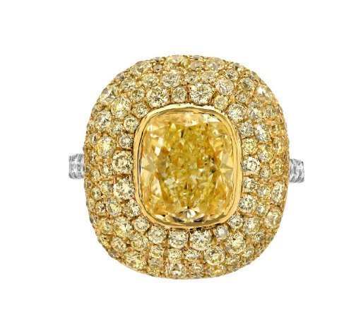925 Sterling Silver Genuine Fine Quality Citrine With Yellow And White Cz Gemsto