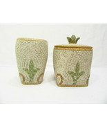Croscill Torino Mosaic Tiles Bath Accessories 3-PC Tumbler/Cup and Cover... - $49.00