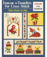 BOOK-Iron-on Transfers For Cross Stitch: Three Books In One For Christma... - $14.99