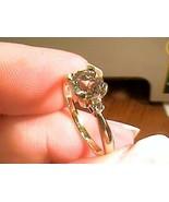 9k solid yellow gold RING 6.25 English 375 Natural real Goshenite Beryl ... - $121.38