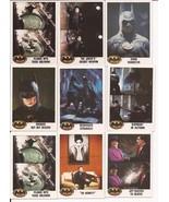 1989 Batman Card Lot #7 Cards #35,35,45,48,113,117,106,120 & 122 Joker V... - $4.95