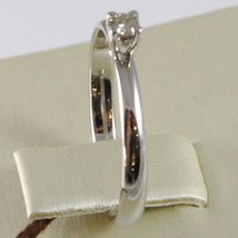 WHITE GOLD RING 750 18K, SOLITAIRE, STEM ROUNDED, WITH DIAMOND, CARAT 0.07 image 3