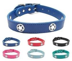 Western Star Genuine Leather Dog Collar * Latigo Puppy Love Texas TX Pet... - $29.99